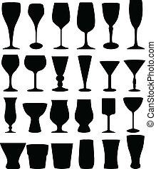 Glasses collection - vector illustration