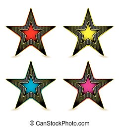 Metal hexagon star award