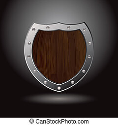 wood shield blank