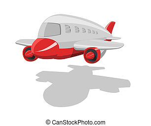 Vector cartoon airplane - Vector cartoon airplane, isolated...