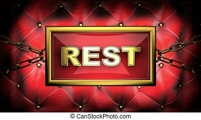 rest on velvet background