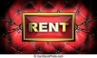 rent  on velvet background