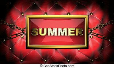 summer on velvet background