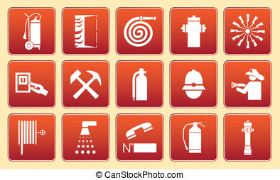 Fire signs - Information fire signs for an equipment...