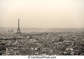 Paris cityscape - Paris seen from the dome of Sacre Coeur