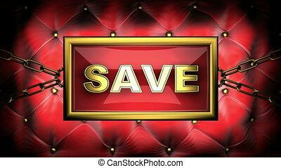 save  on velvet background