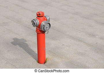 Fire Hydrant - Used fire hydrant with floor background