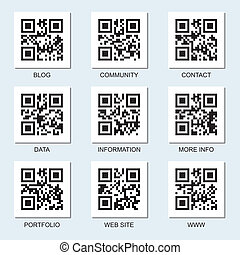 Set of vector Internet qr codes