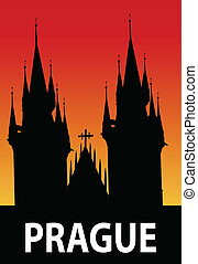 Prague - vector illustration