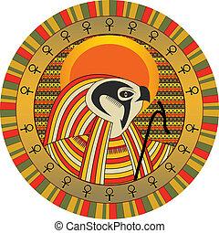 Egyptian god of sun Ra - Background the Egyptian god of sun...