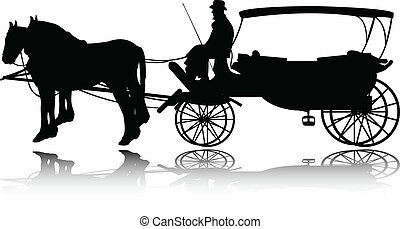 carriage silhouette - vector