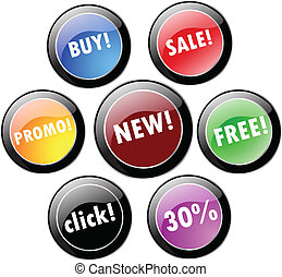 Sale and promotional stickers