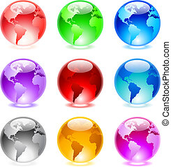 Glossy spheres - Collection of colorful glossy spheres...