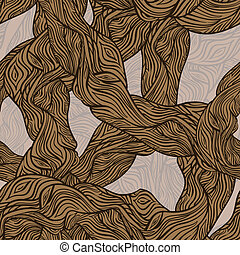 vector seamless oak tree wooden texture, clipping masks