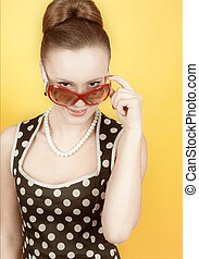 Girl in american 60s style