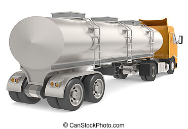 Tanker truck isolated on white