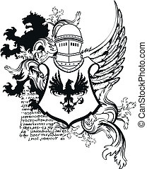 heraldic helmet coat of arms10