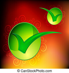 Swirl Approval Checkmark - An image of a approval checkmark...