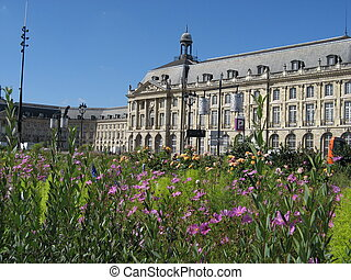 Square de la Bourse in Bordeaux, France