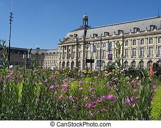 Square de la Bourse in Bordeaux, France