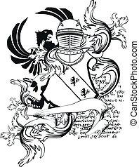 heraldic helmet coat of arms9