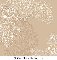Eastern hand drawn background - Eastern beige hand drawn...