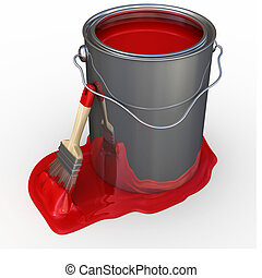 Paint Bucket - brush supported in a paint bucket