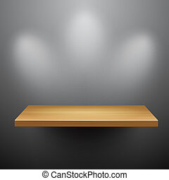 3d isolated Empty shelf for exhibit Vector illustration
