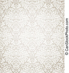 Damask seamless floral pattern Vintage vector illustration