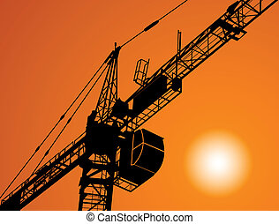 The elevating crane