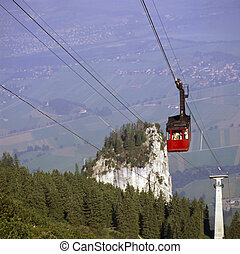Cable car in German Alps
