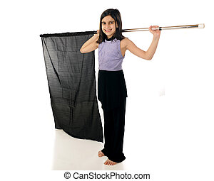 Elementary Color Guard - An elementary color guard in...