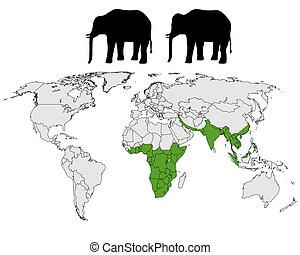 Elephants range