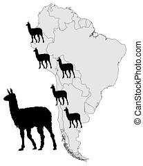 Llama range map
