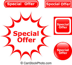 button Special Offer glossy icons