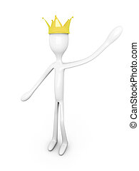King - The King. 3D rendered Illustration. Isolated on...