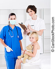 doctor, nurse and little patient