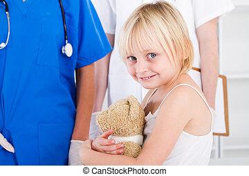 little patient in doctor's office