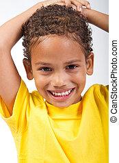 cute African American boy - cute african american boy posing...