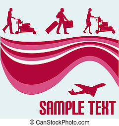 Air Travel Flyer - Air Travel vector background