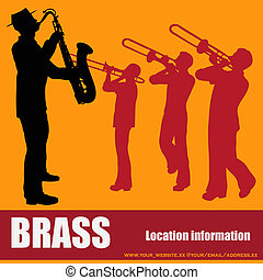 Brass Music Background  - Brass Music Vector Background
