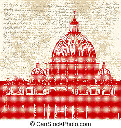 Saint Peters Background - Saint Peters, Vatican City, Rome,...