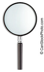 magnifying glass isolated on a white background - a...
