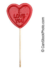 I love you lolly with clipping path
