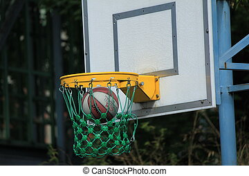 basketball to throw out