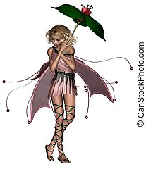Pink Umbrella Fairy - 2