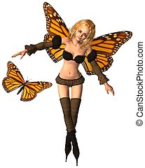 Monarch Butterfly Fairy - 2