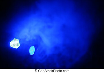 Party Lights - abstract blue colored strobe light at night...