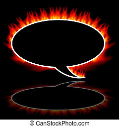 Fire Communication Speech Balloon - An image of a fire...