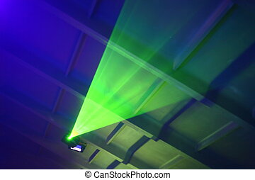 Party Lights - abstract colored strobe light at night club...